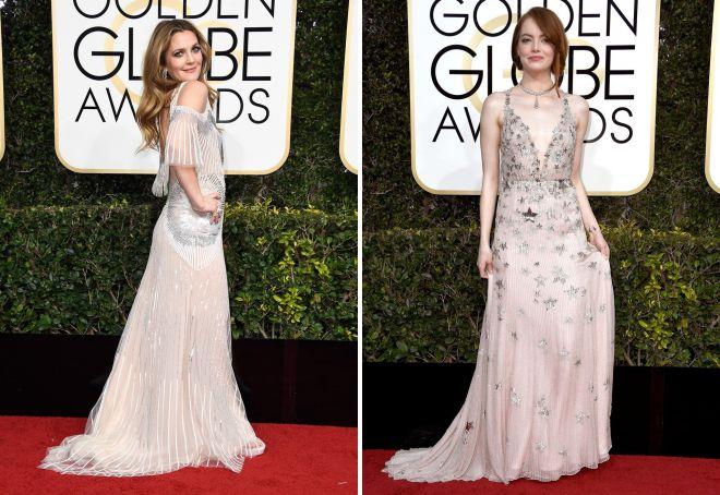 4 Drew Barrymore i Emma Watson zaprezentowały sukienki w pastelowych kolorach.