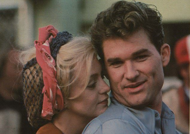 Голди Хоун и Курт Рассел в 1983 году
