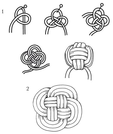 Gordian knot jak robić na drutach