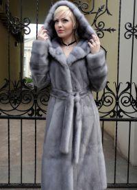 szary płaszcz z norek6