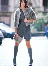 szary płaszcz z norek8