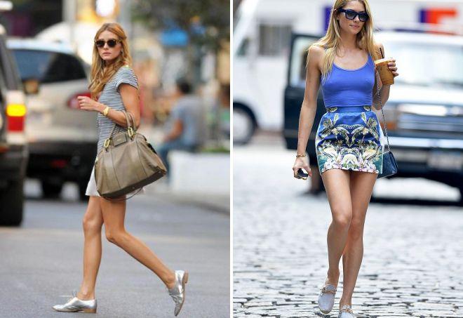 женские серые туфли без каблука