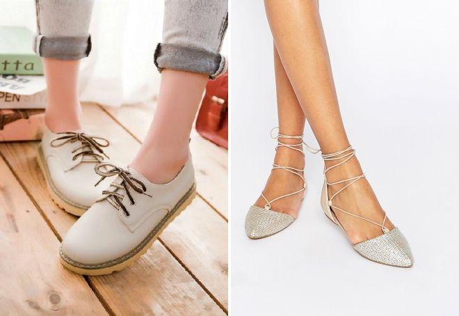 модные серые туфли