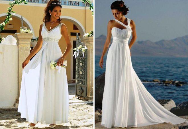 długie greckie suknie ślubne