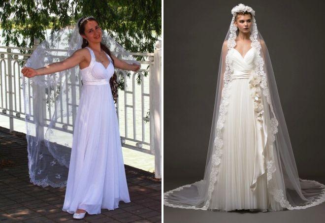 piękne suknie ślubne w greckim stylu