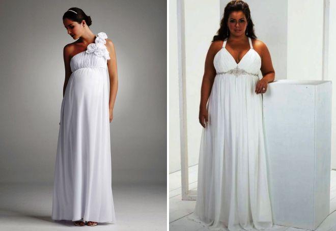 suknie ślubne w greckim stylu, kompletne