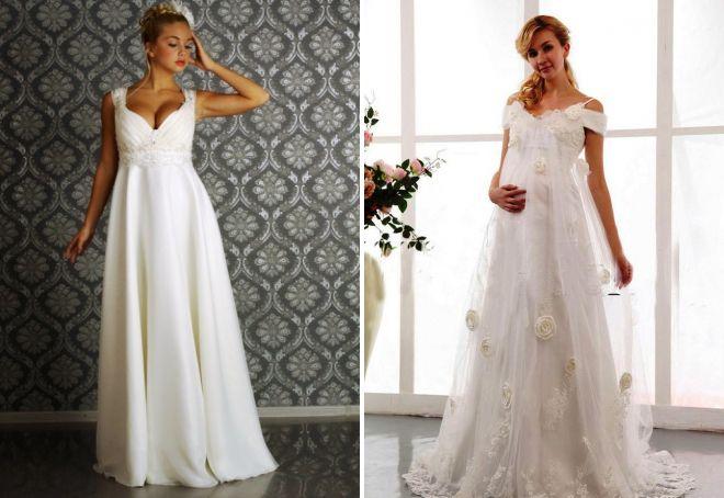 modna suknia ślubna w greckim stylu
