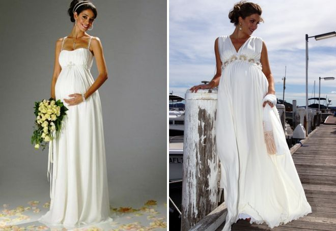 suknie ślubne w stylu greckim dla kobiet w ciąży