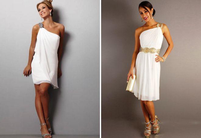 krótka suknia ślubna w greckim stylu