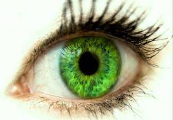 зелена стойност на цвета на очите