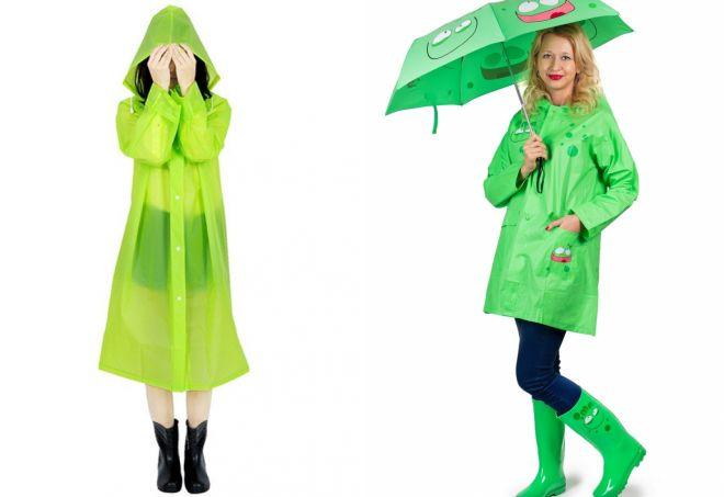 зеленая куртка дождевик