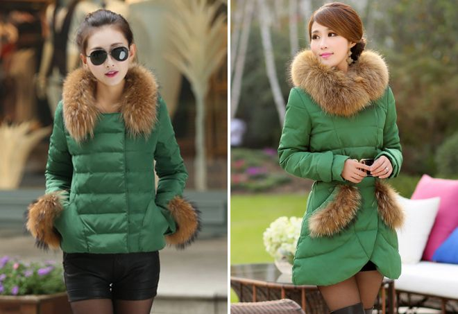 куртка зеленого цвета