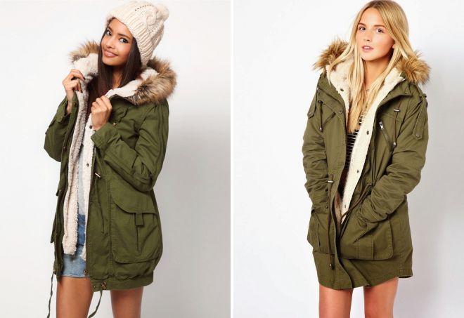 зеленые куртки парки