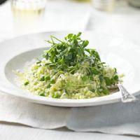 przepis na risotto z zielonym groszkiem