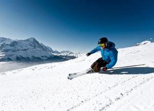 Катание на лыжах в Гриндельвальде