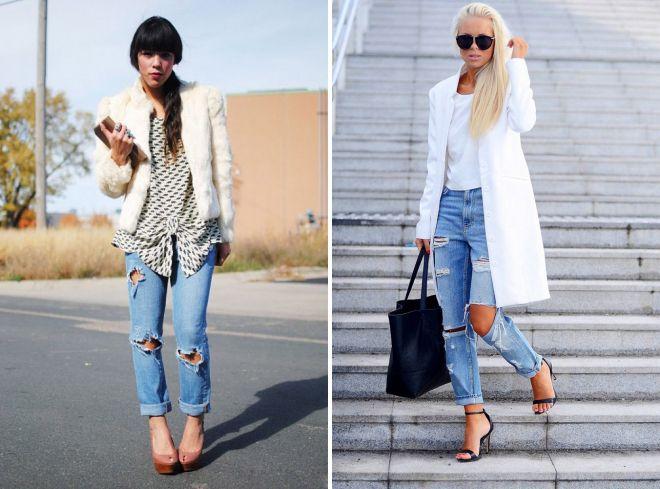 рваные джинсы стиль гранж