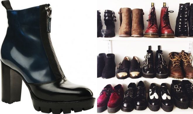 ботинки в стиле гранж
