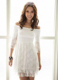 Sukienka z gipiury z długim rękawem 2