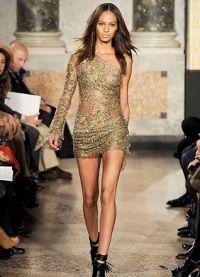 Sukienka z gipiury z długim rękawem 3