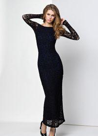 Sukienka z gipiury z długim rękawem 4