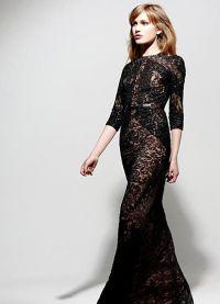 Sukienka z gipiury z długim rękawem 5