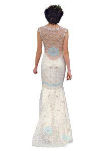 Sukienka z gipiury z długim rękawem 6