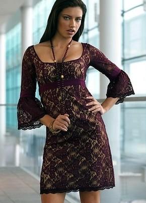 Sukienka z długimi rękawami z gipiury 8