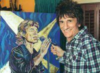 Ронни Вуд занимается живописью
