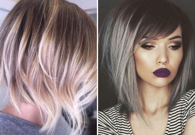модный боб на окрашенные волосы 2017