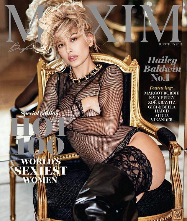 Maxim назвал американскую модель Хейли Болдуин самой сексуальной женщиной