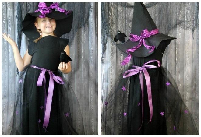 Halloween kostim za djevojku s vlastitim rukama11