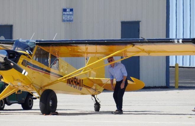 Харрисон Форд за несколько часов до взлета из аэропорта Санта-Моники 13 февраля