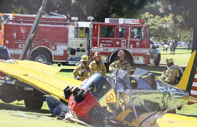 В 2015 году Харрисон разбил свой самолет на поле для гольфа
