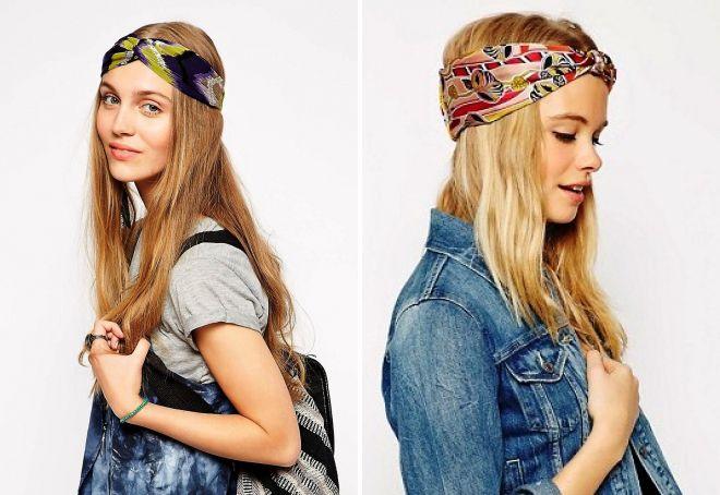 стильные повязки на голову