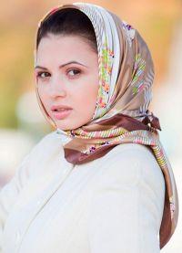 Šátek na hlavě - zimní 2