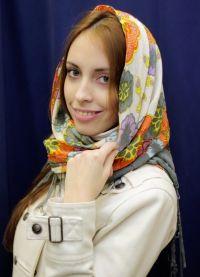 Šátek na hlavě - zimní