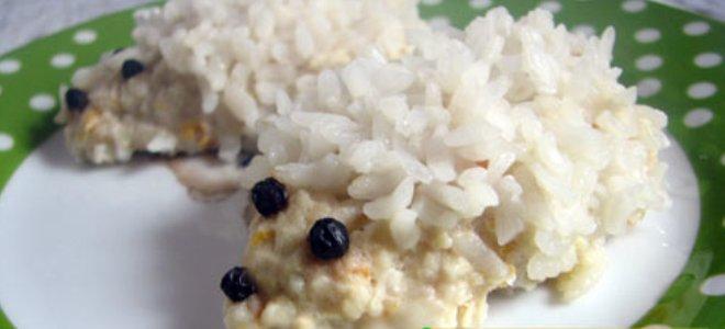 Ježevi od mljevenog mesa s rižom