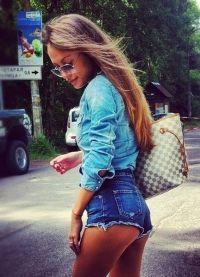 wysokie spodenki jeansowe 2