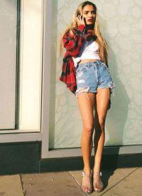 wysokie spodenki jeansowe 6