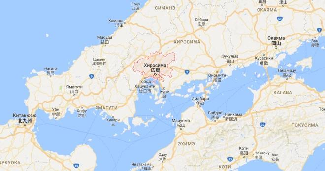 Хиросима на карте