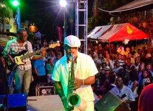 Выступление на джазовом фестивале