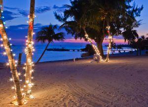 Украшения пляжа на Рождество