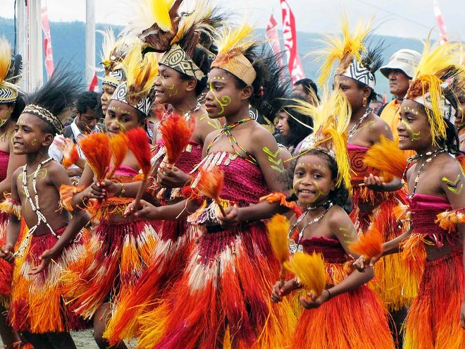 Фестиваль на острове Сентани