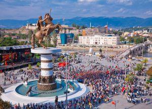 Празднование Дня независимости в Македонии