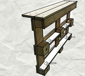 Domowe drewniane meble własnymi hands2