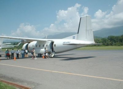 Рейс, прибывший в аэропорт города Utila