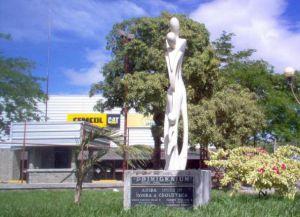 В Чолутеке есть не только старинная архитектура, но и современная скульптура