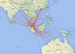 Схема направлений Сингапура