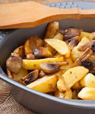 pyszne smażone ziemniaki z grzybami