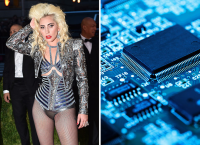 Леди Гага и  компьютерный чип